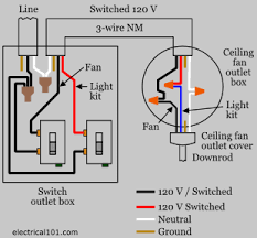 wire a ceiling fan 2 way switch diagram repairs electrical