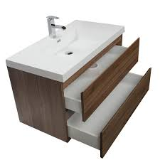 buy angela 35 5 wall mount bathroom vanity in walnut tn ag900 wn