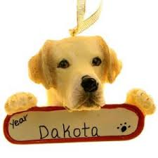 yellow lab ornament rainforest islands ferry