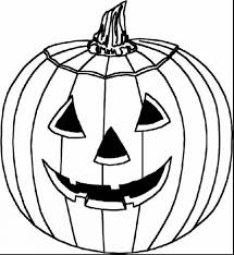 unbelievable blank pumpkin coloring pages with halloween pumpkin