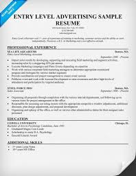 examples of entry level resumes entry level marketing resume