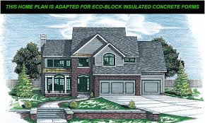 Insulated Concrete Forms Home Plans by Creswell Eco Block Icf Version Retired 5458eco Traditional