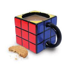Novelty Coffee Mugs by Official Retro 80 U0027s Rubiks Cube Shaped Tea And Coffee Mug Novelty