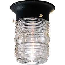 Jelly Jar Light With Cage by Outdoor Ceiling Mount Light Fixtures L I H 172 Outdoor Lighting