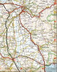 map of roads a road map major tourist attractions maps