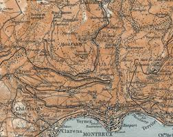 map of montreux map montreux etsy