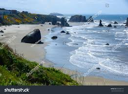 landscape view pacific northwest usa beach stock photo 623682713