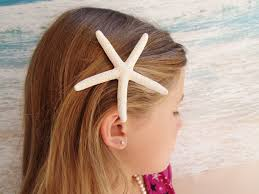 starfish hair clip starfish hairclip wedding alligator hair clip accessory