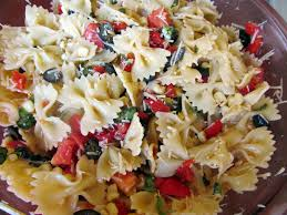 think love sleep dine pasta salad with roasted corn and olives