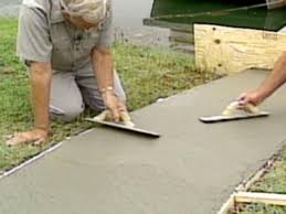 How To Make Homemade Concrete by How To Make A Concrete Walkway Home Design Ideas