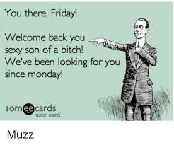 Sexy Friday Memes - you there friday welcome back you sexy son of a bitch we ve been