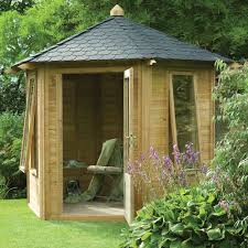Summer Garden Sheds - forest garden henley fsc summer house 8 sided hexagonal open front