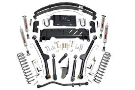 rough country 4 5in jeep long arm suspension lift kit 84 01 xj 2 5