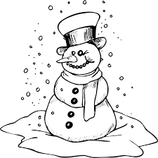 winter hat coloring pages snowman coloring page smiling snowman with scarf u0026 hat