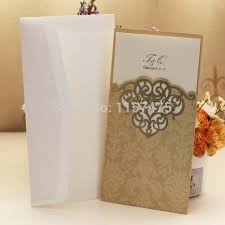 free sle wedding invitations free shipping hi7004 hot sale pocket cards gold light brown