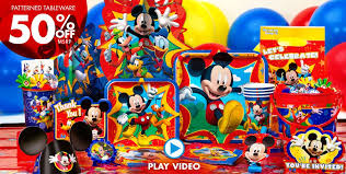 mickey mouse party a simply unforgetable party shop