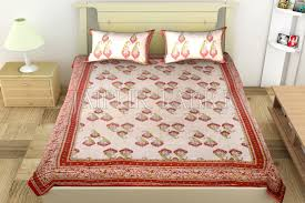 block print double bed sheet of best quality