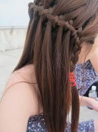 tutorial rambut waterfall long hair formal hairstyles with waterfall braid hairstyle