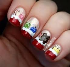 nails beautiful beauty rednails mickey mickeymouse minnie