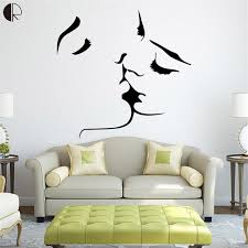 home decor wall amour baiser mode home decor wall sticker sur le mur amovible en