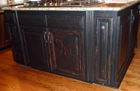 simple design of black distressed kitchen cabinets lanierhome