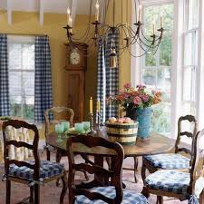 Country Plaid Curtains Splendid Plaid Curtains In Dining Room Queen Anne And Drop