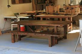 arbor exchange reclaimed wood furniture 8 foot trestle table