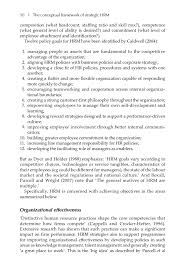 Core Qualifications List Strategic Human Resource Management A Guide To Action