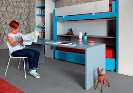 lit gigogne avec bureau bureau en stratifié contemporain avec lit gigogne pour enfant