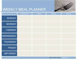 weekly meal planner template madinbelgrade