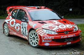peugeot 206 rally bruno thiry stéphane prévot peugeot 206 wrc