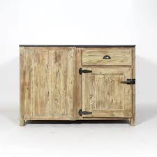 meuble bas de cuisine meuble cuisine bois recyclé et bleue en angle made in meubles