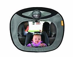 baby car mirror with light amazon com brica day and night light musical mirror gray