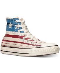 American Flag Shoes Lyst Converse Men U0027s Chuck Taylor High Usa Flag Print Casual