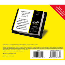 spanish for dummies 2016 desk calendar 9781438843322