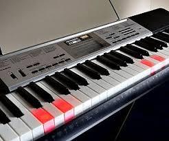 piano keyboard with light up keys rainbow light up keyboard