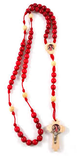 our of guadalupe rosary our of guadalupe wood bead cord rosary