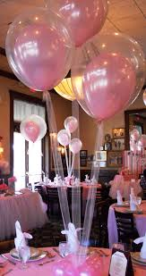 diy baby shower ideas for girls balloon centerpieces