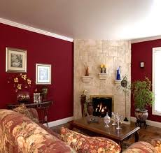 Rooms With Burgundy Color Schemes Ava Living Kitchen With Wine - Kitchen and living room color schemes