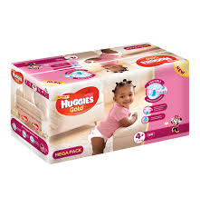 huggies gold huggies 1 x 108 s gold disposable nappies mega pack girl size 4