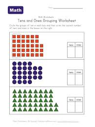 math worksheets for grade 2 tens and ones worksheet printables site