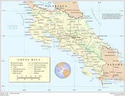 Map Costa Rica Map Of Costa Rica Overview Map Worldofmaps Net Online Maps