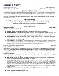 Senior Resume Template Financial Executive Resume