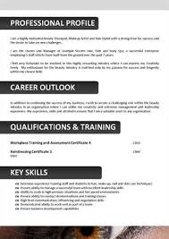 Resume Examples For Cosmetology by Here Is Preview Of This Beautician Resume Created Using Ms Word