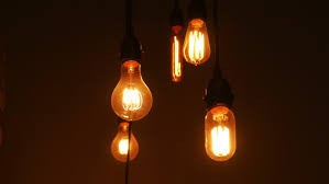 Artistic Lighting Artistic Light Bulbs With Wooden Background Stock Footage Video