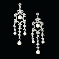 Costume Chandelier Earrings Pearl And Diamond Chandelier Earrings U2013 Eimat Co