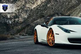 gold ferrari 458 italia 20 inch rohana rfx5 gloss gold wheels on ferrari 458 italia w