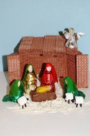 nativity scene made of candy diy instructions here great