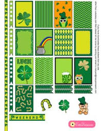 erin condren life planner free printable stickers free printable saint patrick s day stickers for happy planner and