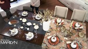 tv time thanksgiving tabletop inspiration on marilyn denis